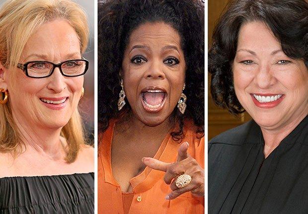 Influential Boomer Women Meryl Streep, Oprah Winfrey and Sonia Sotomayor