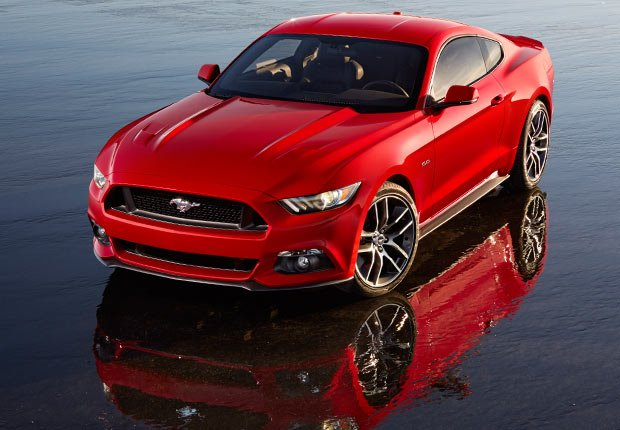 The newly redesigned 2014 Ford Mustang. The iconic car will celebrate its 50th anniversary on April 17, 2014.