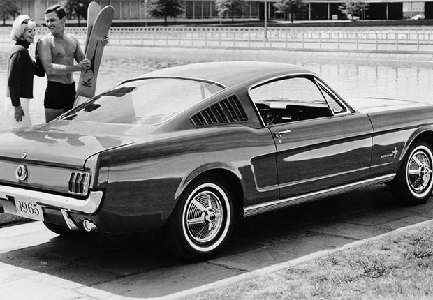 Ford Mustang Fastback Model is shown Sept. 1964.