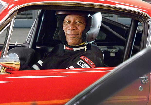 Morgan Freeman en la película, The Bucket List.