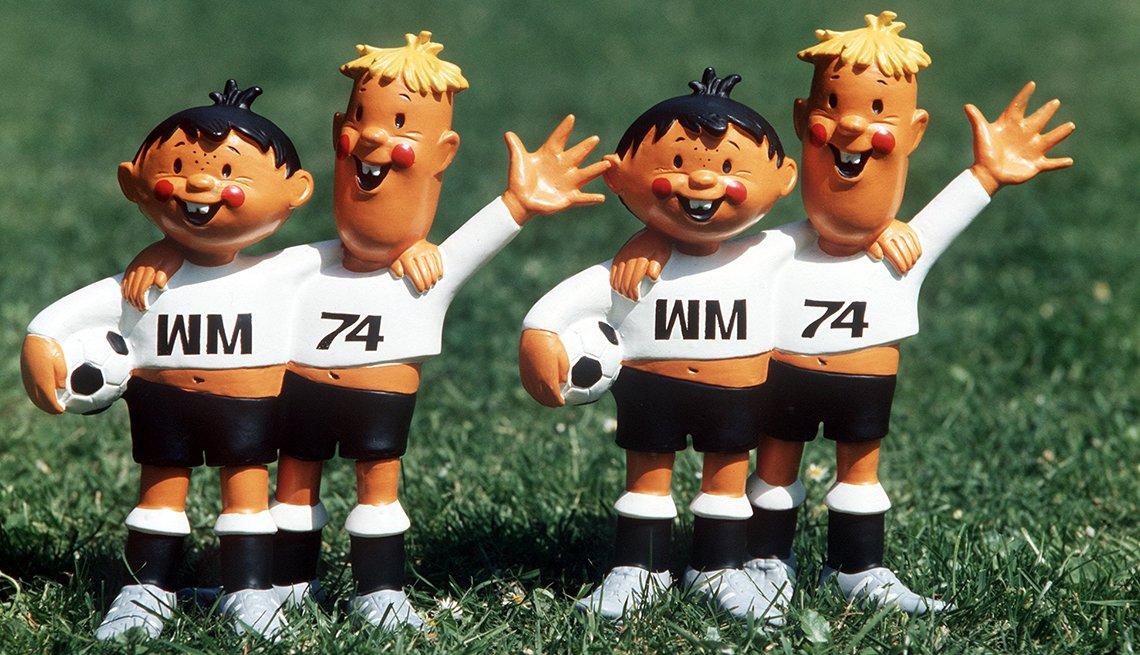 Tip y Tap (Alemania, 1974), Mascotas de los mundiales de fútbol
