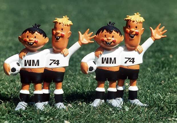 Tip and Tap (Alemania, 1974), Mascotas de los mundiales de fútbol