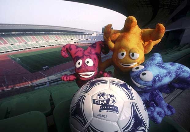 Los Spheriks (Corea del Sur/Japón, 2002), Mascotas de los mundiales de fútbol