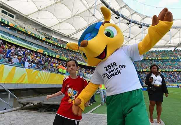 Fuleco (Brazil, 2014), Mascotas de los mundiales de fútbol