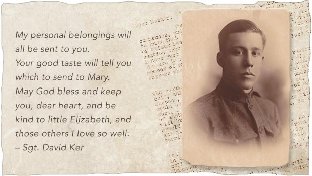 Last Letters Home - Final Words From Fallen Warriors - Sgt. David Ker