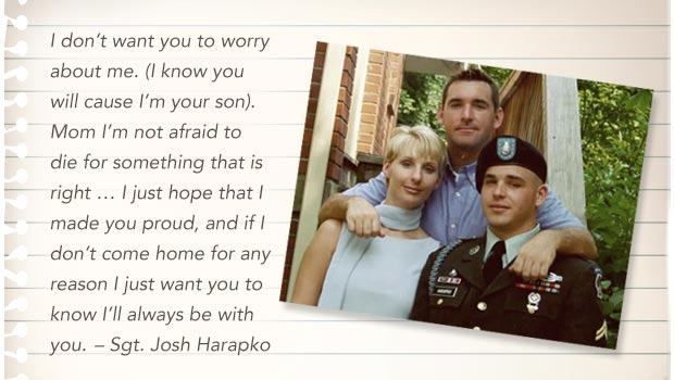 Last Letters Home - Final Words From Fallen Warriors - Sgt. Josh Harapko