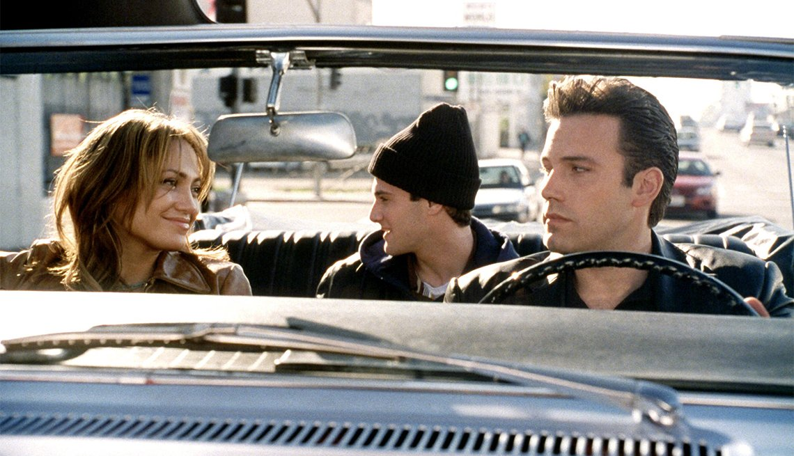 Jennifer Lopez, Justin Bartha, and Ben Affleck in 'Gigli'