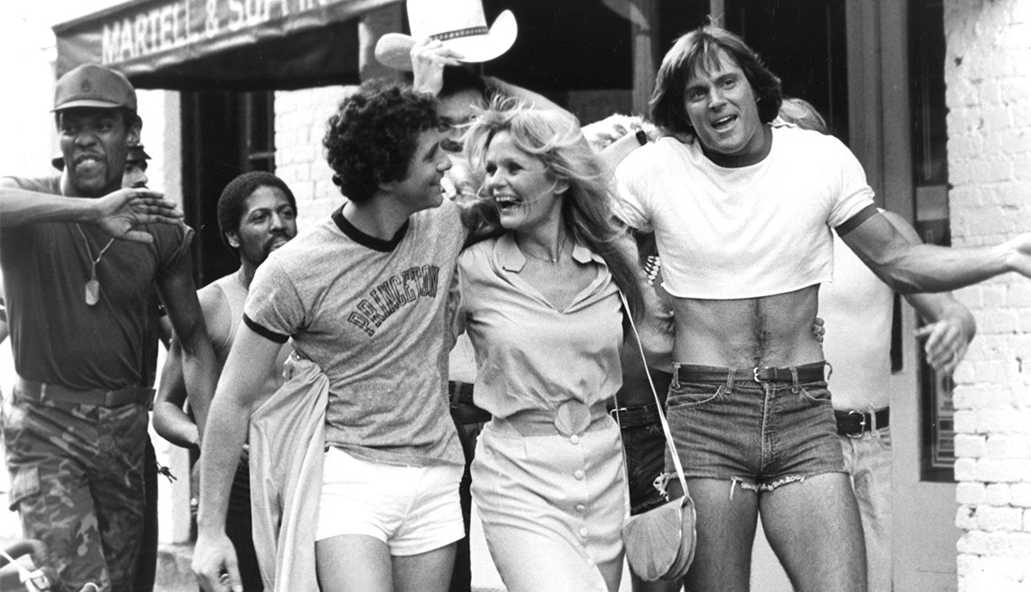 CAN'T STOP THE MUSIC, Alex Briley, Steve Guttenberg, Valerie Perrine, Bruce Jenner, 1980
