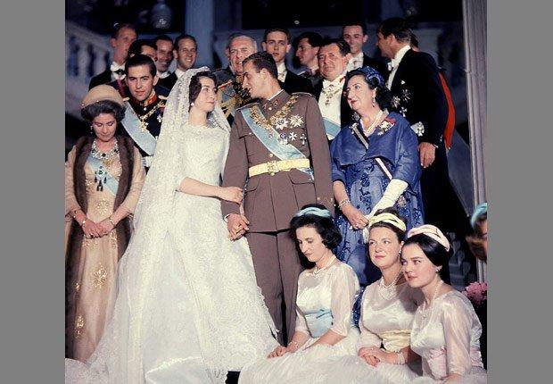 Boda de Juan Carlos y Sofía de Grecia - Rey Juan Carlos y el Príncipe Felipe de España.