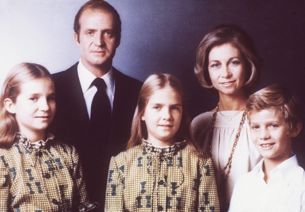 Familia real española - Rey Juan Carlos y el Príncipe Felipe de España.
