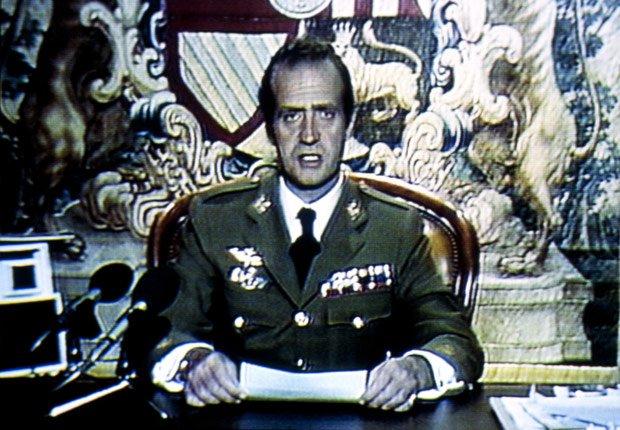 Rey Juan Carlos condena el intento de golpe - Rey Juan Carlos y el Príncipe Felipe de España.