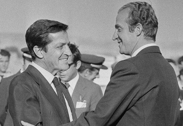 Rey Juan Carlos con el primer ministro Adolfo Suárez - Rey Juan Carlos y el Príncipe Felipe de España.