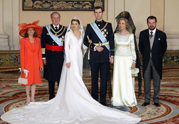 Boda del príncipe Felipe y Letizia Ortiz - Rey Juan Carlos y el Príncipe Felipe de España.