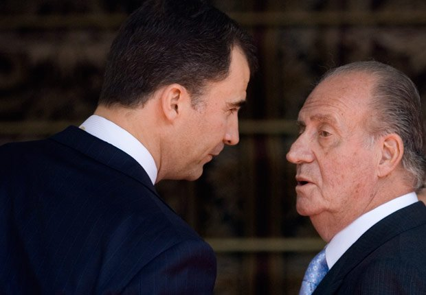 Parlamento español - Rey Juan Carlos y el Príncipe Felipe de España.
