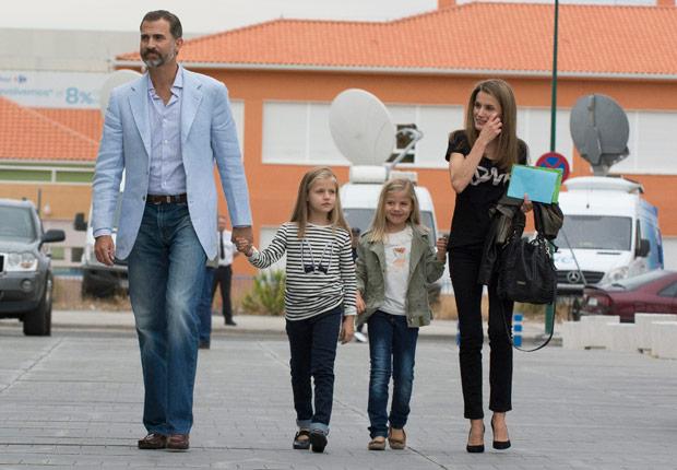 El príncipe Felipe y su familia - Rey Juan Carlos y el Príncipe Felipe de España.