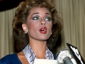 Vanessa Williams resigns her Miss America title July 23, 1984 in New York City