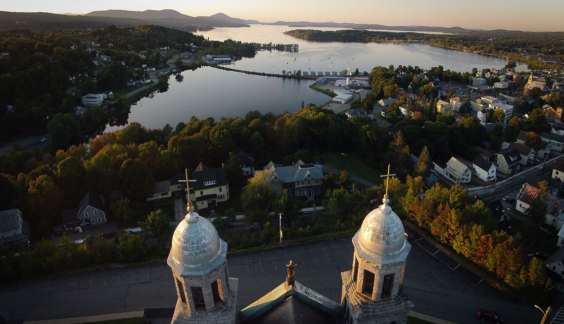 Aerial View Of Lake Memphremagog, Vermont, Town, Lake, Patricia Sears, Livable Communities, 5 Questions