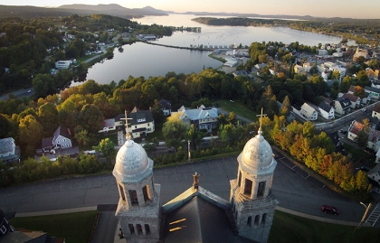 Called Newport's 'best view of the lake' is the hilltop view from St Mary Star of the Sea Catholic Church of Vermont's other international lake, Lake Memphremagog. Four-Fifths of the lake is in Quebec, Canada.