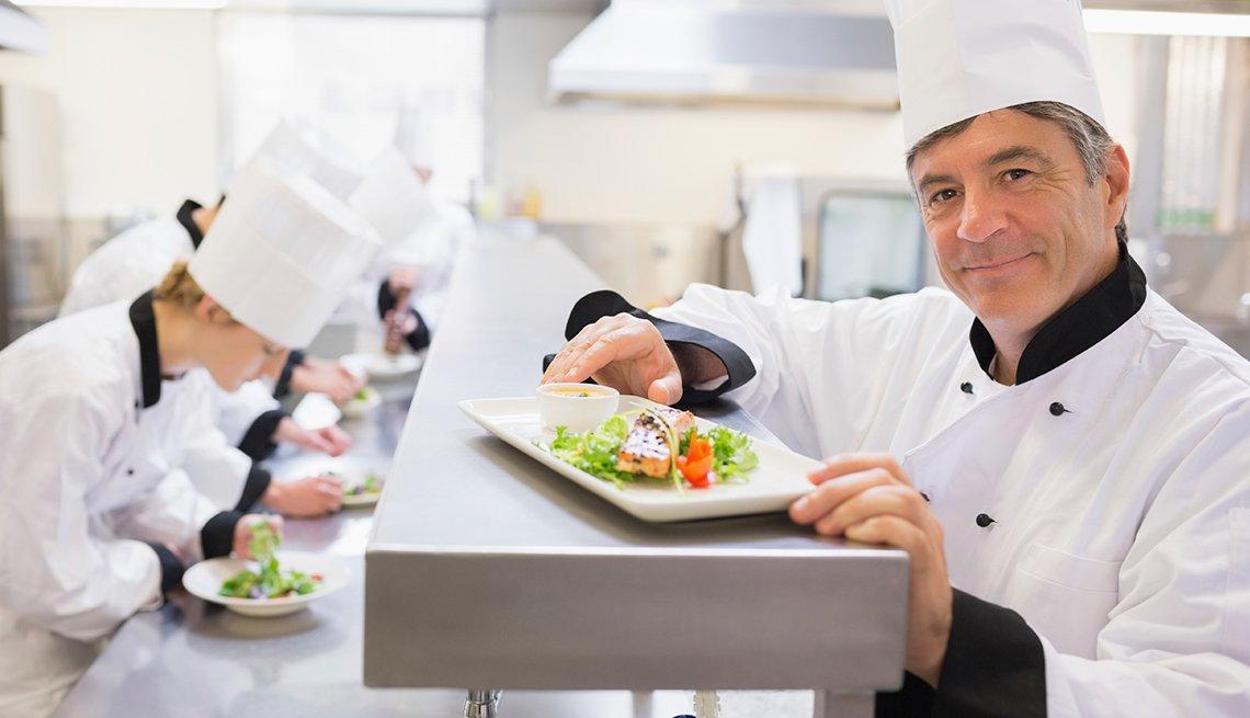 Chefs cocinando