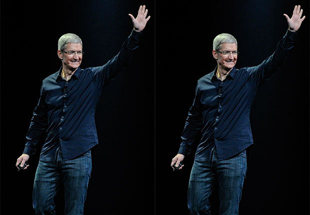 Apple CEO Tim Cook waves at crowd, 2014/2015 Out/In List