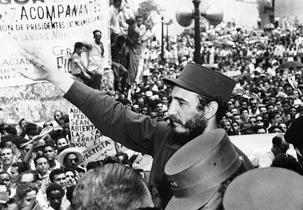 Fidel Castro, Primer Ministro de Cuba, a pocos meses de asumir el poder en La Habana el 22 de marzo de 1959.
