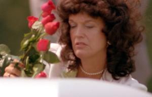 Wanda Ruffin en el funeral de su esposo
