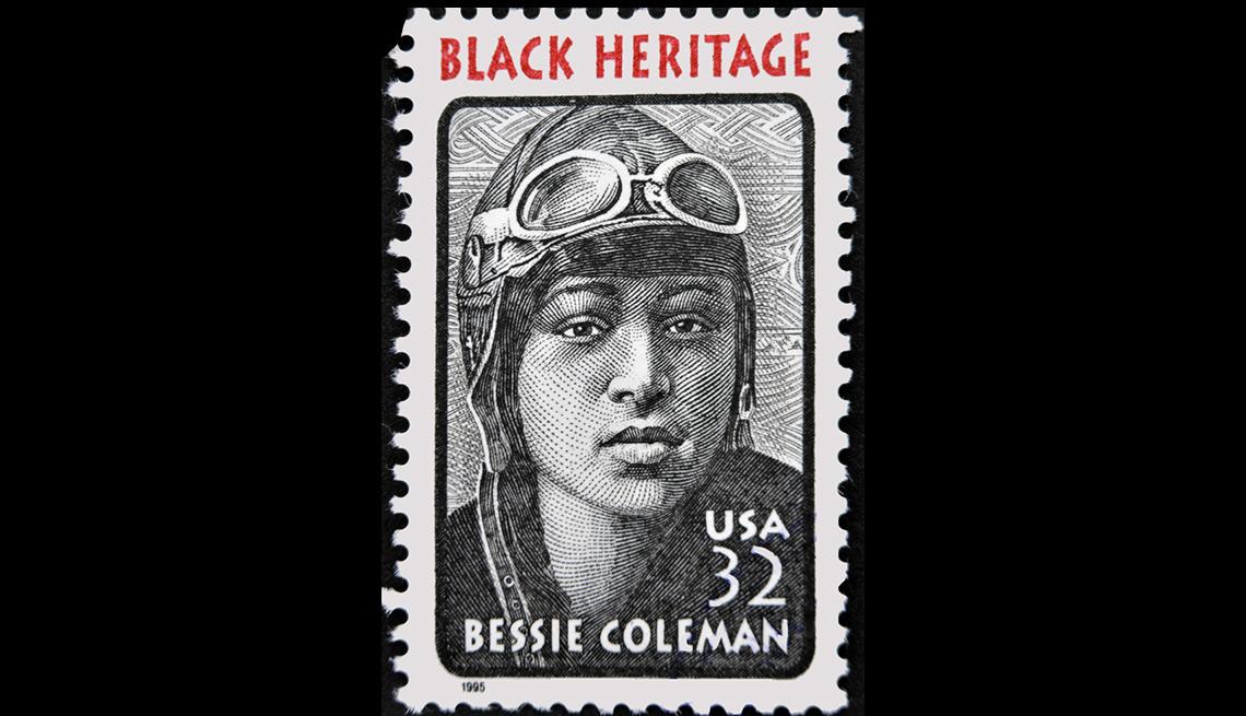Bessie Coleman Postage Stamp