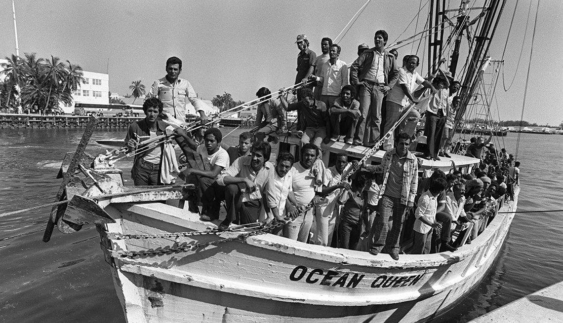 Cuban Mariel Boatlift, 1980, Marielitos arrive in Miami, 35th anniversary