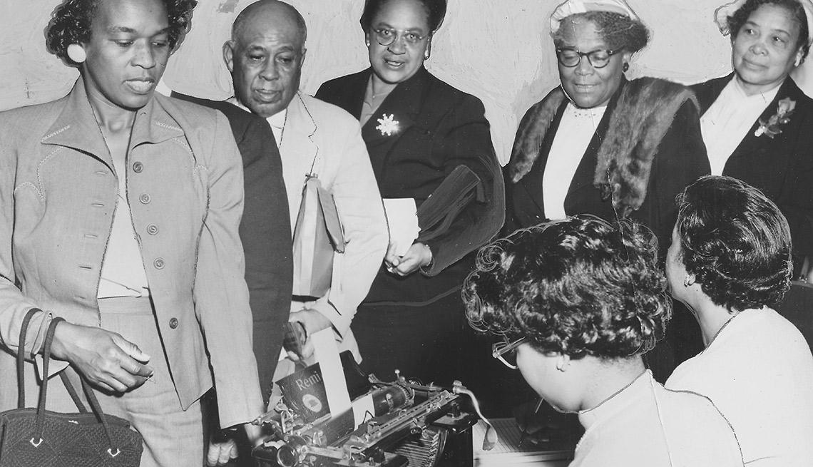 Votantes de la raza negra en 1965