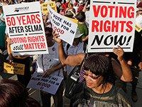 Manifestación a favor del derecho al voto