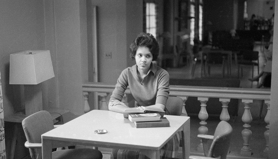 Charlayne Hunter, dorm room, University of Georgia, 1961,