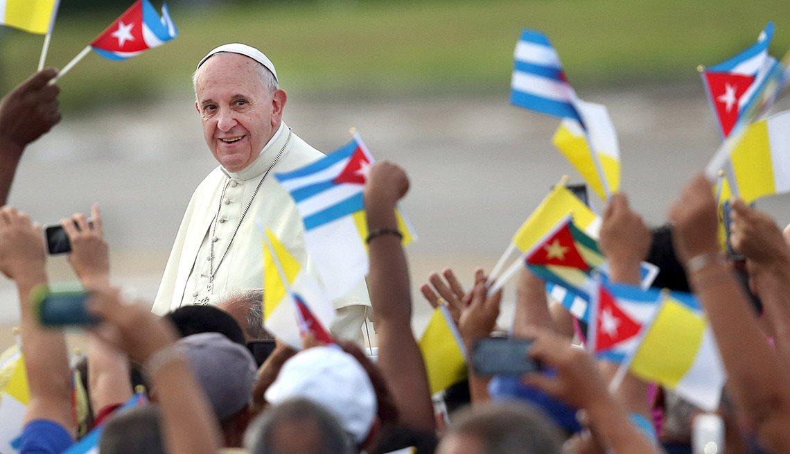 Papa Francisco en su visita a Cuba