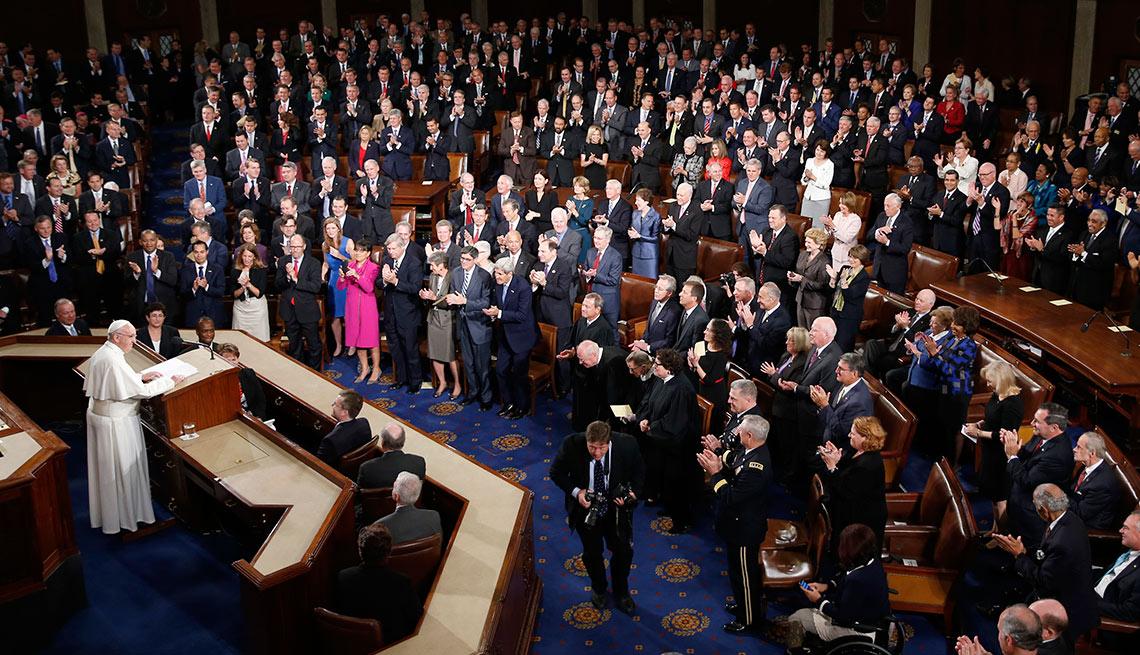 Papa Francisco frente al Congreso de Estados Unidos