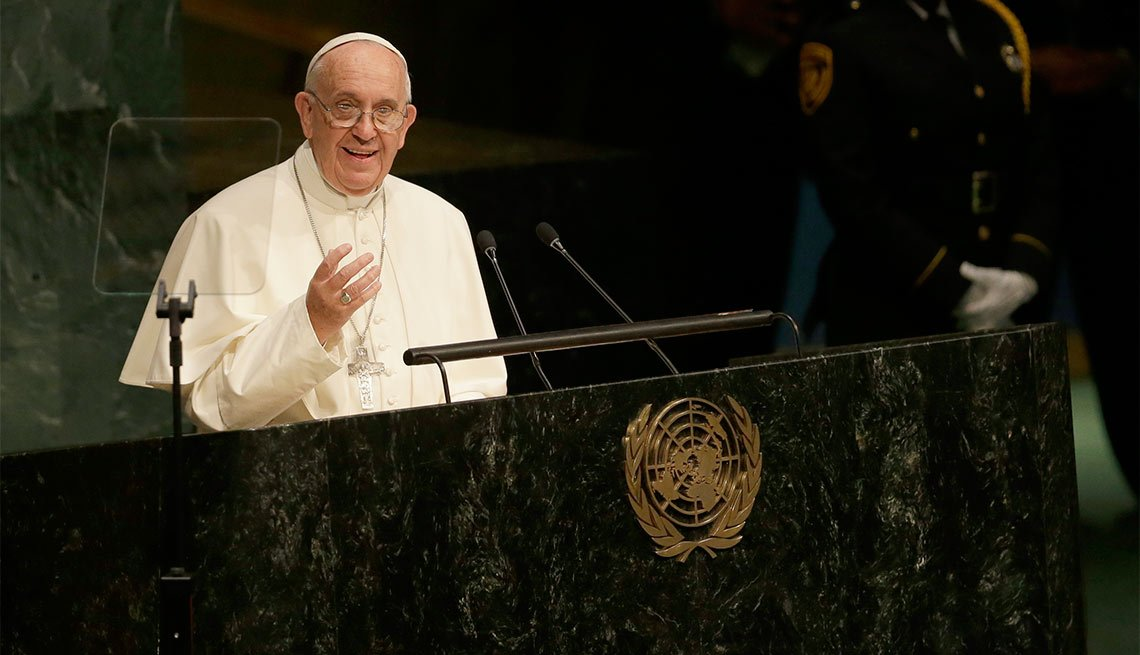 Pope Francis addresses the UN