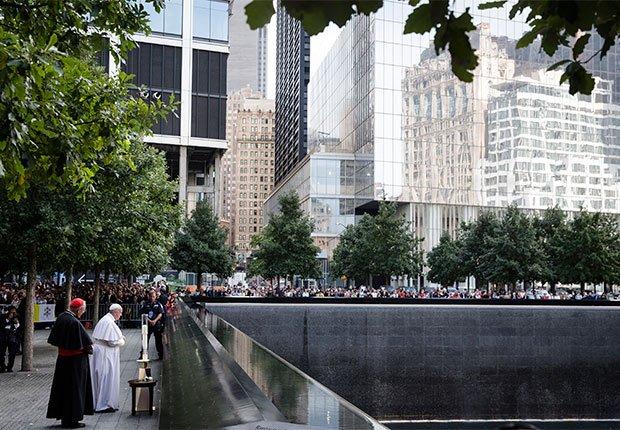 Papa Francisco en la Zona Cero, Nueva York