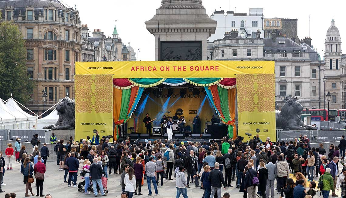 Africa on the Square is organized by the Mayor of London for Black History Month