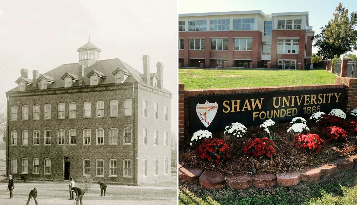 Split screen Shaw University Images