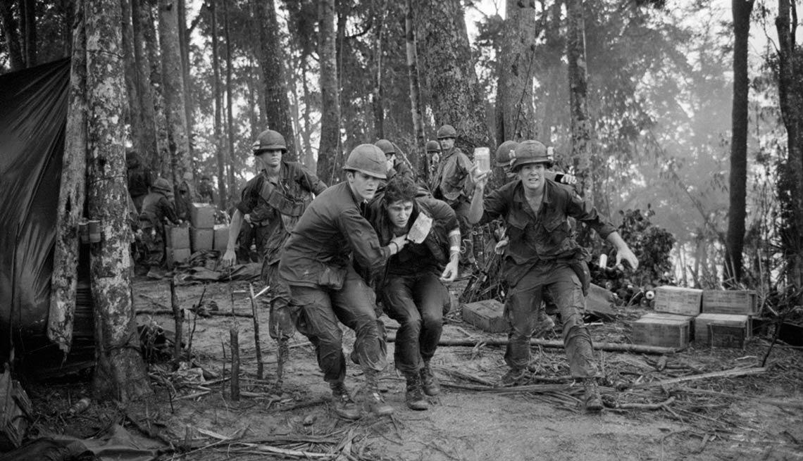 Medics, injured paratrooper, Hamburger Hill,  Vietnam, Battle I'll Never Forget