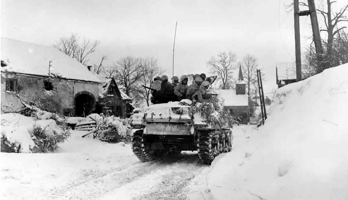 Armored tank, World War II, Schopen, Belgium, January 1945, Battle I'll Never Forget,