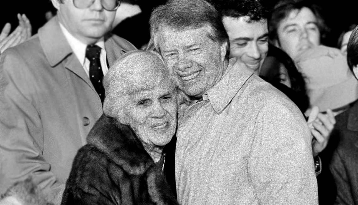 U.S. President Jimmy Carter with his mother Lillian Gordy Carter