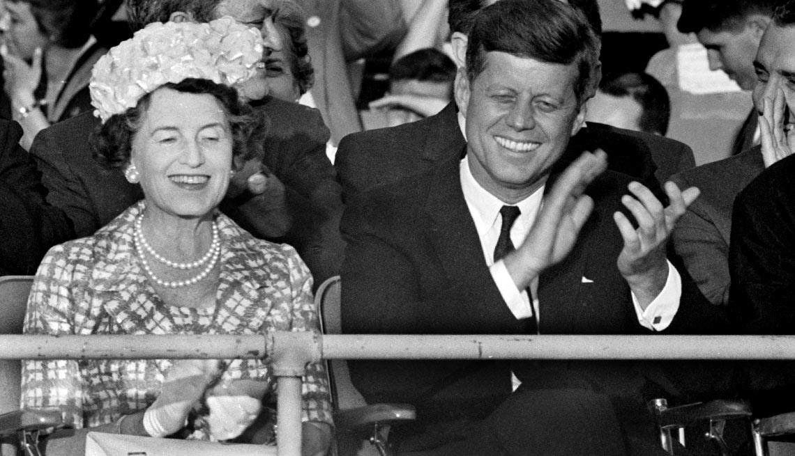 Mrs. Rose Kennedy and her boyish-looking son, Democratic standard bearer Senator John F. Kennedy