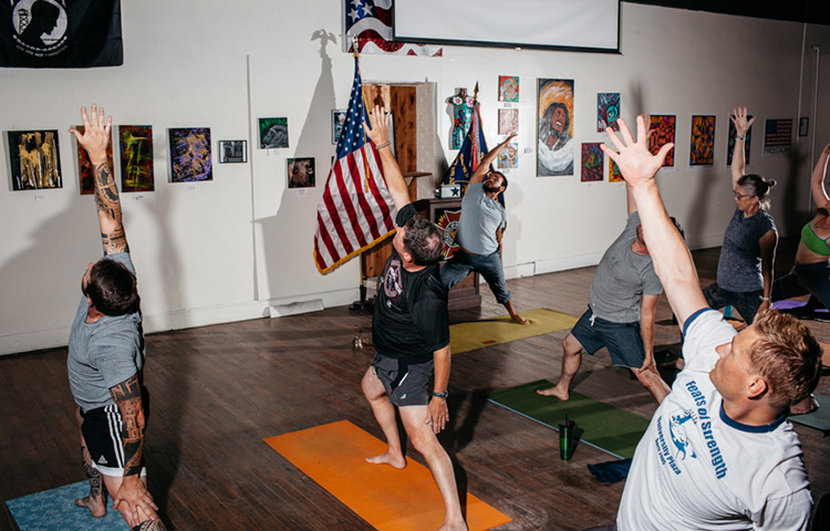 Vets, New VFW yoga