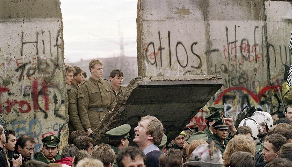 Caía del muro de Berlín