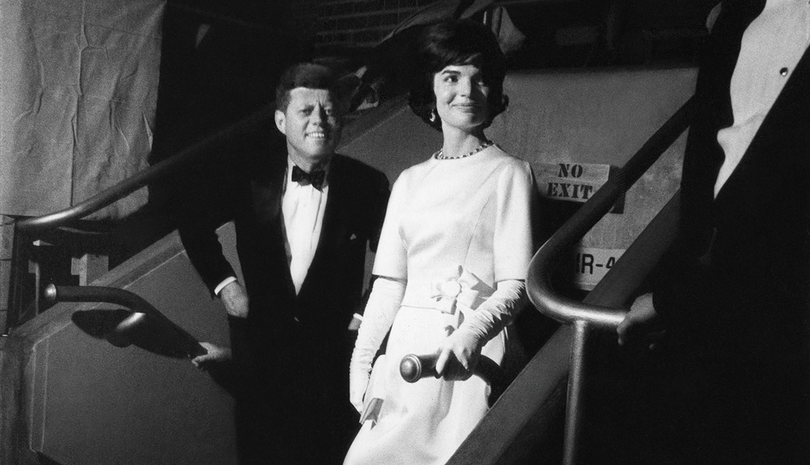 President and Mrs. Kennedy attend their Inaugural Ball at the Washington, D.C Armory.
