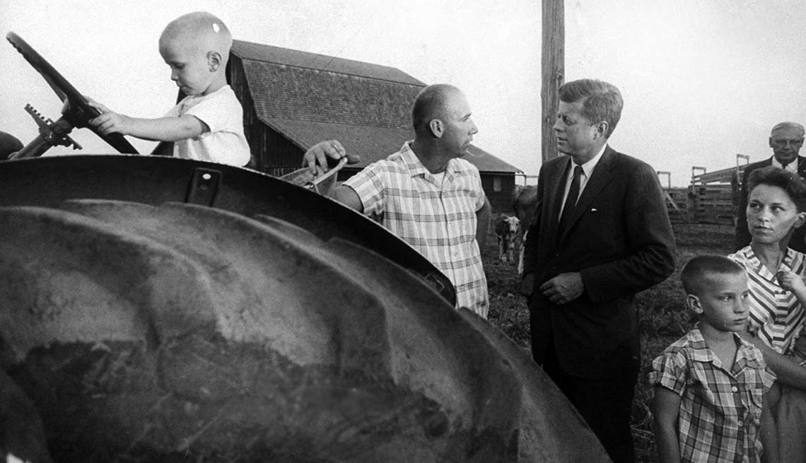 The campaign brought Kennedy, scion of a wealthy East Coast family, face-to-face with hardworking Americans who literally lived off the land.