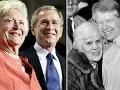 George W. Bush y su mamá, Jimmy Carter y su mamá - Mamas de los presidentes de Estados Unidos