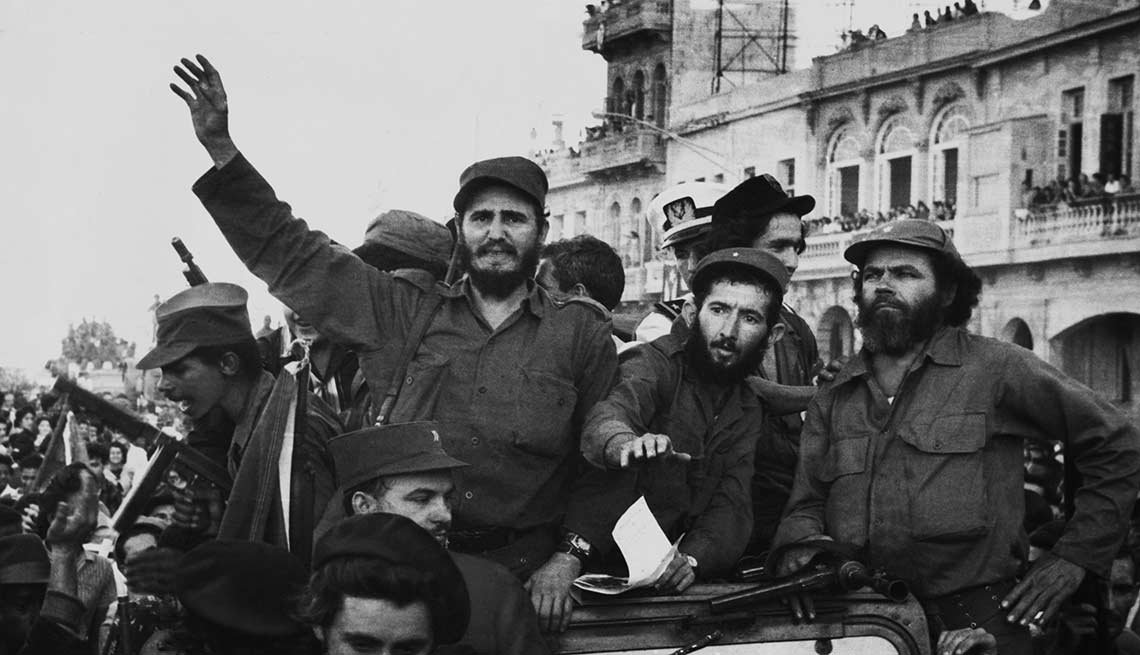 El triunfo de la Revolución Cubana, liderada por Fidel Castro