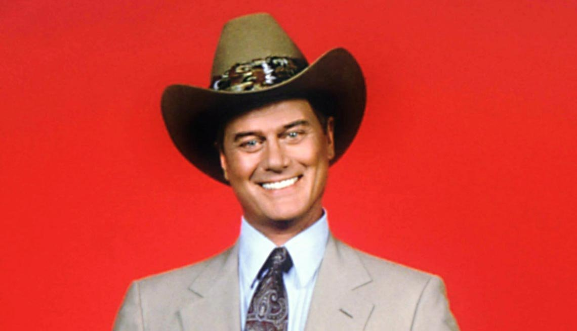 Larry Hagman as J.R. Ewing on Dallas