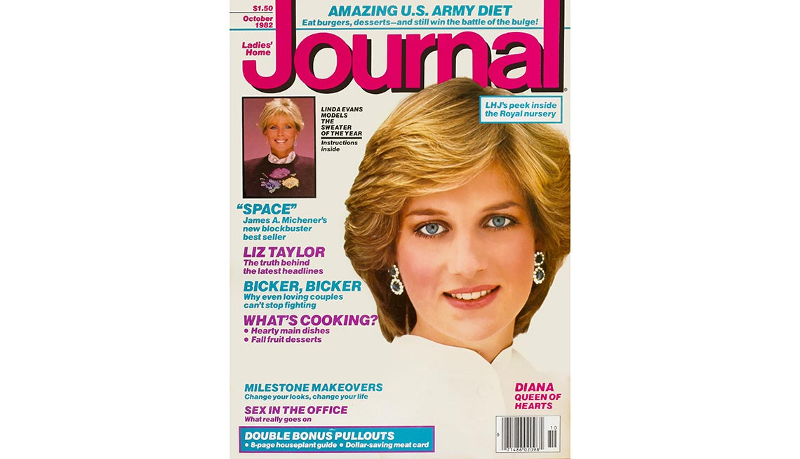 Princess Diana on the cover of Journal