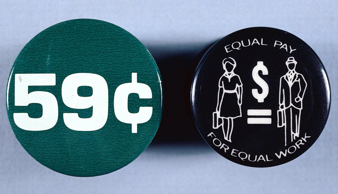 Buttons For Pay Equity, Civil Rights Movement, 1963 Was a Year With Lasting Impact, AARP Politics, Events And History